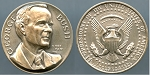 1989 George Bush 41st. President Silver Medal 32mm, 4-6Mmm thick,  31.9 gm. .999 Fine Silver Mint, with light tone.