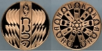 1984 Franklin Mint - Hanukah - Holiday Bronze Medal Proof - In Air-Tite Capsule