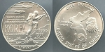 1991-D Korean Commemorative Silver Dollar - Uncirculated