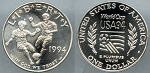 1994-D World Cup Silver Dollar - Uncirculated