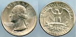 1965 Washington Quarter - Error - Broadstrike Mint State