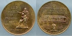 Medal 125 year of Progress New Braunfels 1845-1970 / The Sophienburg First City hall AU/Unc