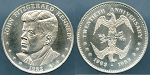 Medal 1983 John Fitzgerald Kennedy 1963-1983 20th. Anniversary Mirror Eagle Reverse Uncirculated - In Air-Tite capsules