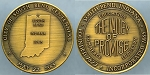 Token 1965 / City of South Bend Centennial May 22, 1865 / The Valley of Promise Mint