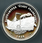 1200 Year Anniversary of Frankfurt am Main Silver Medal - Raddampfer