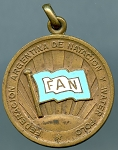 1947 Argentina Water Polo Medal 3rd. Place - Bronze