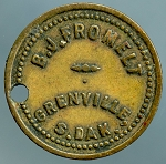 B.J. FROMELT / GRENVILLE, / S. DAK.  GOOD FOR / 5¢ / IN MERCHANDISE