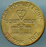 Red Door Saloon Tucson Arizona - Brothen Token