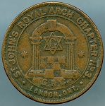 ST. JOHN'S ROYAL ARCH CHAPTER NO 3. Masonic Penny