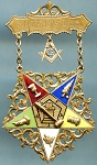 1901 Freemason Eastern Star Jewel Pin back