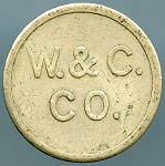 W. & C. / CO. GOOD FOR / 5¢ / IN  TRADE - Token