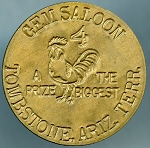 Gem Saloon Tombstone, Ariz. Terr - Brothel Token