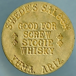 Swede's Saloon Yuma, Ariz - Brothel Token