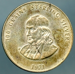 1971 100 Grains Sterling Silver Franklin Mint