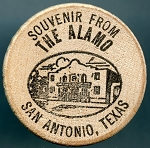 Wooden Nickel The Alamo San Antonio, Texas