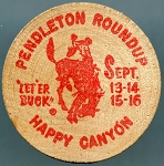 Wooden Nickel Pendleton Round up