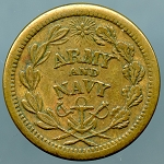 Civil War Token - Army and Navy  / The Federal Union