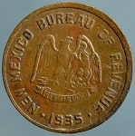 1935 New Mexico 5 Mills Tax Token