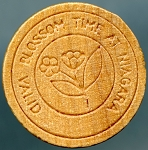 CANADA WOODEN NICKEL Peach Blossom Time at Niagara falls Ontario