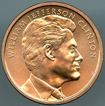 William J. Clinton (Second Term) Bronze Medal 1 5/16 Inch