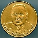 Richard J Daley 6th Term Inauguration Chicago Mayor Medal
