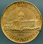 1965 Missouri State Capitol Building Jefferson City Capitol Medal