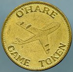 1992 Chicago O'Hare Airport Arcade Token