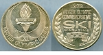 Token XI Winter Olympic Games Sapporo Japan / 1972 Winter Olympic Commemorative Ski Magazine Au/Unc