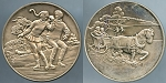 Medal Franklin Mint Winter - Skaters / One Horse Sleigh Au/Unc