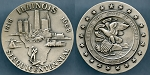 Medal 1968 Illinois Sesquicentennial Silver Medal .999 Fine Medallic Arts Serial Number 9975 / Seal of the State of Illinois Mint