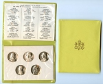 Medal 1958 The Popes of the 20th. Century 5-Medal Set Mint State