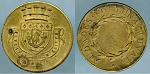 Token AUDACES FORTUNA JUVAT (FORTUNE FAVORS THE BOLD)/ France / Armes of the City of Paris VF/XF