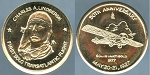 Medal 1977 Charles A. Lindberg 50th.  Anniversary May 20-21, 1927 14k Gold Proof like