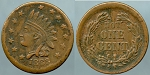 Token 1863 Indian Head 13 stars / Not One Cent /  Civil War Token Fine