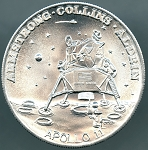 Apollo 11 First Moon Landing Aluminum 39mm token