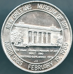 New Orleans Museum of Art Mardi Gras Doubloon 1985
