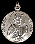 Saint David Religious Pendant Sterling Silver