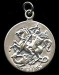 Saint George Religious Pendant Sterling Silver