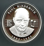 1200 Year Anniversary of Frankfurt am Main Silver Medal - Paul Hindemith 1895-1963