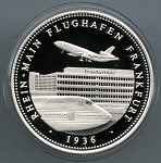 1200 Year Anniversary of Frankfurt Am Main Silver Medal - Frankfurt Airport