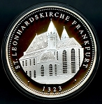 1200 Year Anniversary of Frankfurt am Main Silver Medal - St. Leonhardskirche
