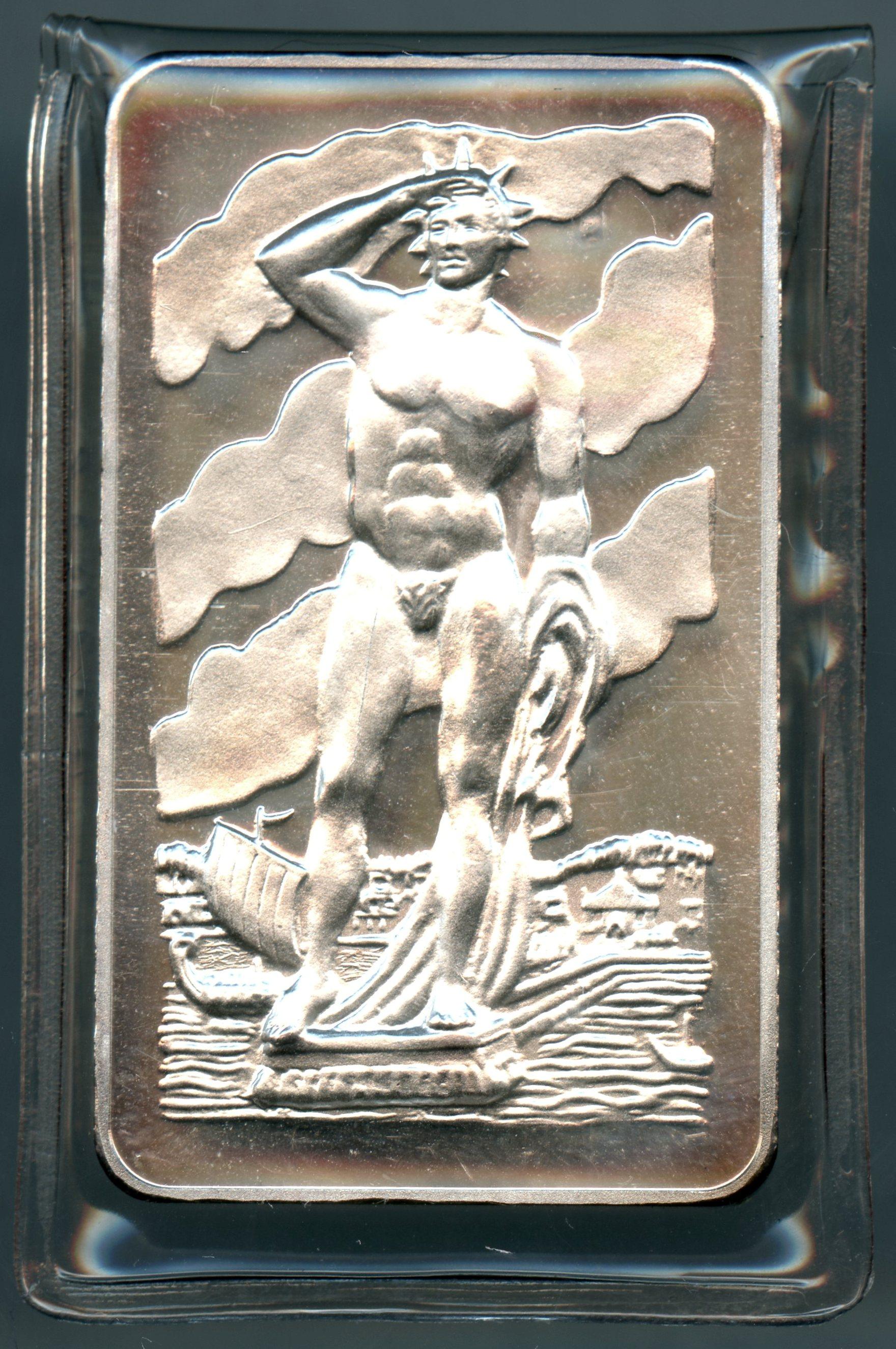 Colossus of Rhodes Mount Everest Mint 1 oz .999 fine silver art bar