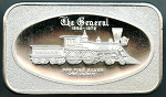 The General 1862-1972 Locomotive Madison Mint 1 oz. .999 Silver Bar