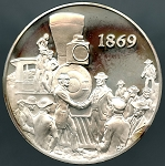1971 American Heritage Treasures of American History Last Spike celebration Franklin Mint Sterling