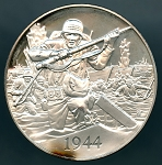 1972 American Heritage Treasures of American History D-Day Invasion Franklin Mint Sterling