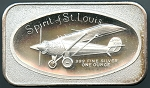 1977 SPIRIT OF ST. LOUIS 50TH ANNIVERSARY Madison Mint 1 oz. Silver Bar