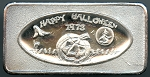 1973 Happy Halloween 1 oz. .999 Fine Silver Bar