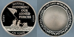 Honoring our Armed Forces Army, Marines, Navy, Air Force 1 oz. .999 Fine Silver Round - Proof