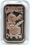 Graduate 1999 Dated 1 oz. .999 Fine Silver Bar