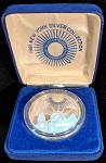 1981 Chemical Bank Silver Medallion - Statue of Liberty - 3/4 oz. with COA/BOX